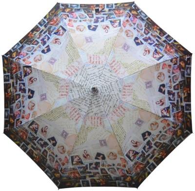 Murano Single fold metal piano windproof Beautiful printed 400164_D Umbrella