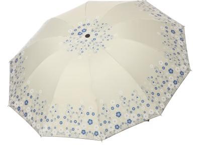 Modish Vogue UM_BDR FLWR_WHITE Umbrella