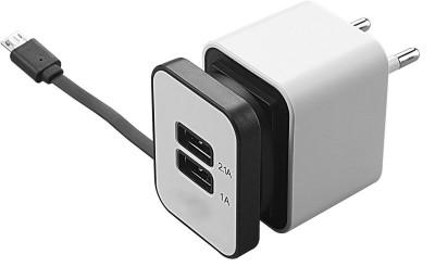 Shrih SH - 0595 2 Port Travel Dual USB Adapter(White)