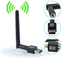Generix Pro 300 mbps Mini Wifi Usb Adapter With Antenna External Ethernet Dongle USB Adapter(Black)