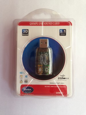 Quantum QHM623 USB Sound Card (pack of 5) USB Adapter