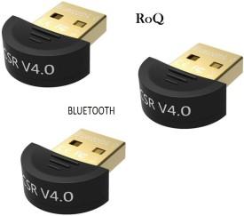 ROQ SETS OF 3 MINI CSR DUAL MODE 4.0 BLUETOOTH USB Adapter(Black)