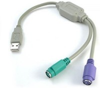 Tech Gear Usb To Ps/2 USB Adapter(White, Purple, Green)