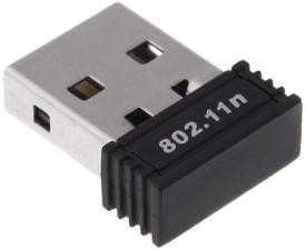 Adnet 802.11N 300Mbps Mini Wireless N 11n Wi-Fi Nano Wi-Fi Dongle USB Adapter(Black)
