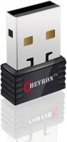 Chevron 150 Mbps Wireless N Nano Wi-Fi V2.1 USB Adapter(Black, Silver)