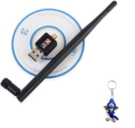 Terabyte WiFi Dongle,Connecter 600Mbps Wireless 802.11n/g/b with Antenna USB Adapter(Black)