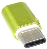 BB4 HIGH QUALITY MINI TYPE C OTG CONVERTER TO MICRO USB Adapter(Green)