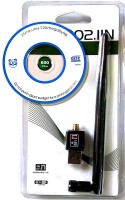 Tera byte WiFi Dongle 600Mbps Wireless 802.11n/g/b with Antenna USB Adapter(Black)
