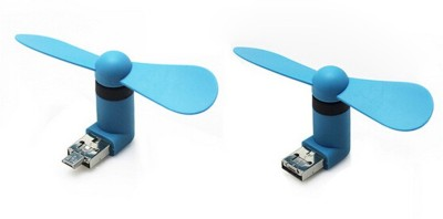 RoQ Micro 2 In 1 Mini Mobile Phone Portable Flexible USB Fan