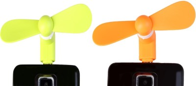 arc en ciel Colorful Combo of Portable Mini Usb Fan For Android Phone C-AEC-GREEN-ORANGE USB Fan