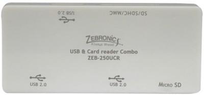 Zebronics 2 In 1 OF 5 Slot Card Reader & 3 Port USB HUB 250UCR Card Reader, USB Hub