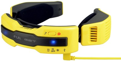 Doel G2T N1 PLUS Wearable Electric Scarf (WARM/COOL) Personal AC Portable Air Conditioner with 7800 mAh Power Bank G2T N1 PLUS USB Cable(Yellow) at flipkart