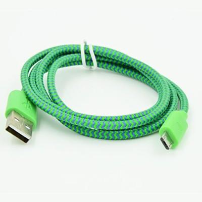 Q3 Micro USB Flat Cotton Braid Charging & Data Sync USB Charger