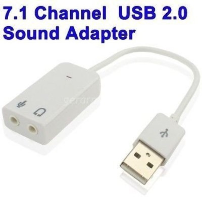 iConnect World Sound 7.1 Channel Hi Speed Audio Card Adapter Sound Card