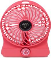 Octain High Speed Wireless Rechargeable Mini Fan OTN 031 USB Fan(Red)