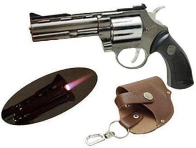 Glitters Jetflame Gun Revolver Cigarette Lighter