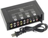 Tech Gear 4 Port 3 Rca Audio Video Compo...