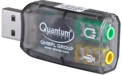 QHMPL QHM 623 3D Virtual 5.1 Stereo & Mic QHM623 Sound Card(Black)