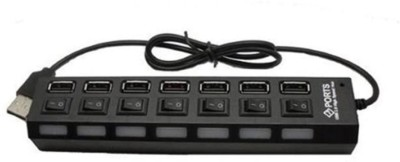 SDWA 7-port USB 2.0 Black Hub with High Speed Adapter On/off Switch for Laptop / Pc 7-port USB 2.0 Black Hub with High Speed Adapter On/off Switch for Laptop / Pc USB Hub