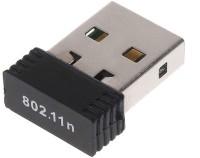 Adnet Wifi Dongle 802.11n Wi Fi 2.4GHz 300Mbps Small Wireless LAN Network Card External Desktop Laptop USB Adapter(Black)