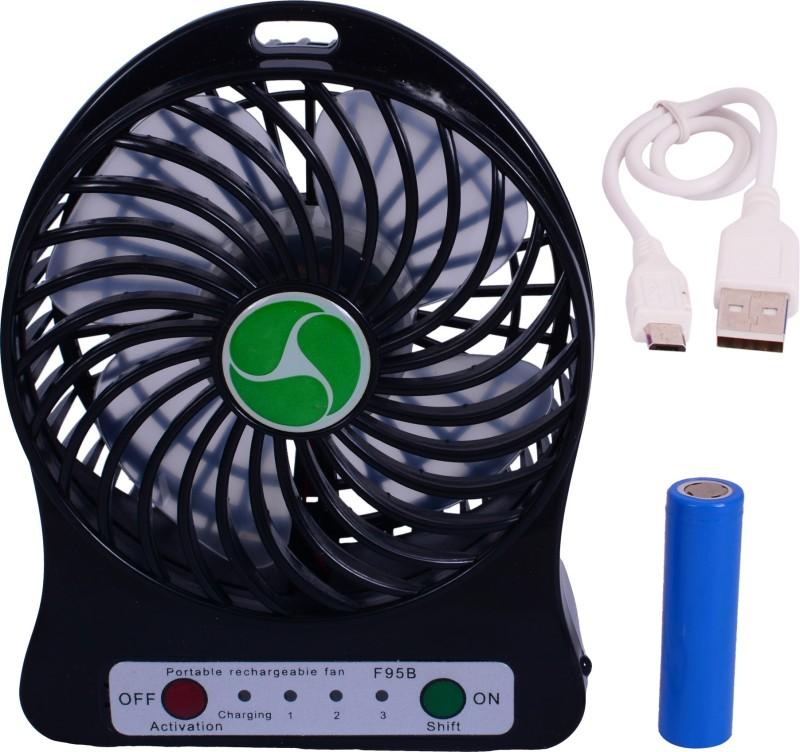 Sunnex Mini Portable Rechargeable S 1 MF USB Fan(Black)