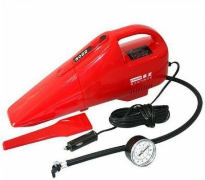Coido 6022 Air Compressor cum Car Vacuum Cleaner Car Vacuum Cleaner(Red)