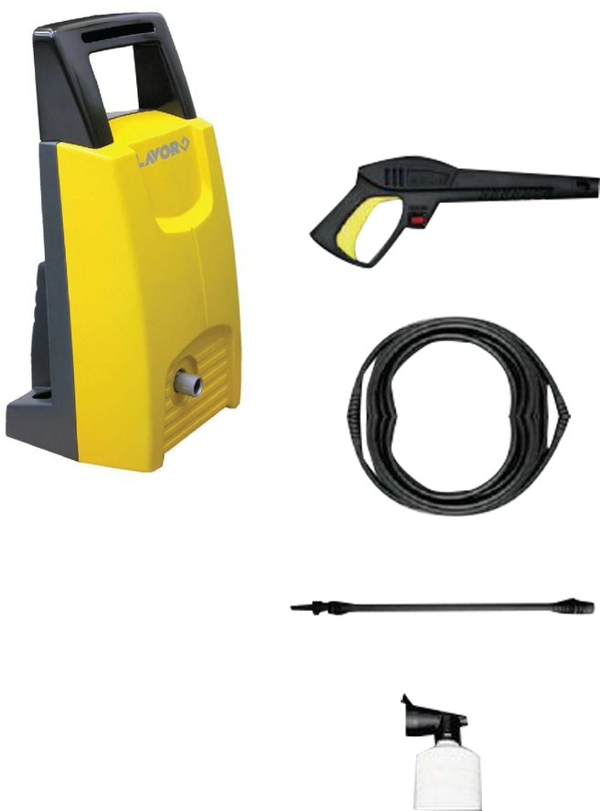 View Lavor Mistral 110 High Pressure Washer(Yellow) Home Appliances Price Online(Lavor)