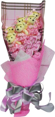 Bird In Blue Pink Love Soap Flower HSFL002 Gift Set