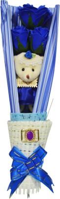 Bird In Blue Love Story Soap Flower HSFS004 Gift Set