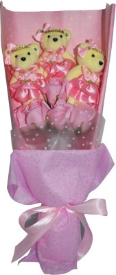 Bird In Blue Soap Flower Pink HSFM003 Gift Set