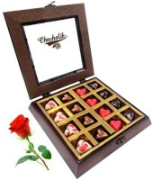 Chocholik Valentine Day Gift - 16Pc Sparkling Love Chocolates With Red Rose Artificial Flower Gift Set best price on Flipkart @ Rs. 1648