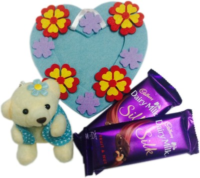 Loops n knots Blue Teddy Love Gift Set