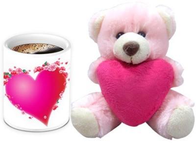 HomeSoGood Ohh! My Heartbeat Coffee Mug With Teddy Valentine Gift Set Gift Set