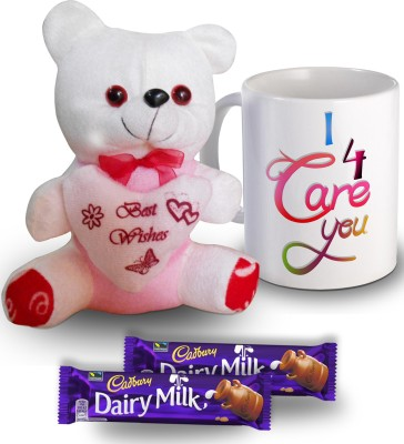 SKY TRENDS I Care For You Mug Teddy and Chocolate Valentine Gift Set Gift Set
