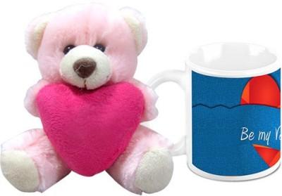 HomeSoGood Be My Valentine Coffee Mug With Teddy Valentine Gift Set Gift Set