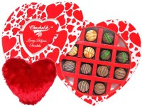 Chocholik Valentine Day Gift - 12Pc Delicious Belgian Chocolates Valentine Gift With Heart Pillow Cushion Gift Set best price on Flipkart @ Rs. 1199