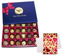 Chocholik Valentine Day Gift - 24Pc Special Treat Of Chocolates With Love Card Greeting Card Gift Set best price on Flipkart @ Rs. 1619