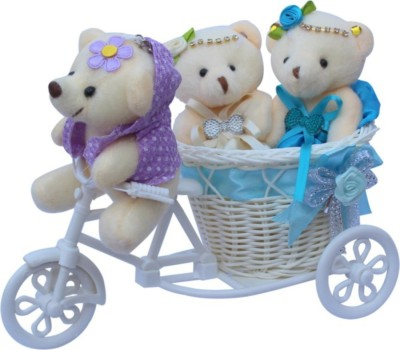 CTW Basket Cycle with Teddy Couple Love Heart Valentine Gift Set