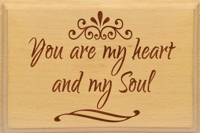 Tiedribbons You are my soul message plank combo set for Valentine's day Gift Set