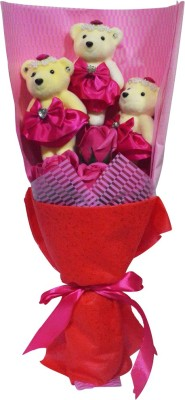 Bird In Blue Soap Flower Pink Gift Set