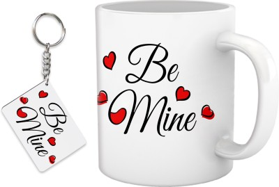 Tiedribbons Valentine's day gift mug with key chain Gift Set
