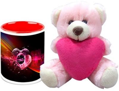 HomeSoGood Bullet For My Heart Coffee Mug With Teddy Valentine Gift Set Gift Set