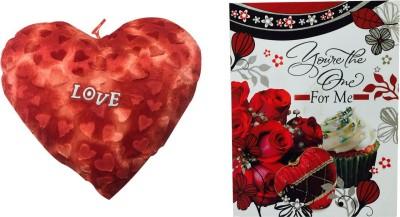 Priyankish Printed Love Heart Soft Toy Combo Gift Set