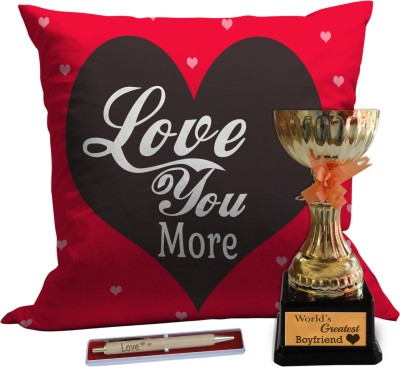 Tiedribbons Love you more combo for dear fiance on valentine day Gift Set