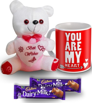 SKY TRENDS You Are My HeartMug Teddy and Chocolate Valentine Gift Set Gift Set