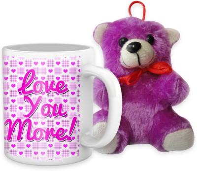 Tiedribbons Love You More Coffee Mug Double Teddy Combo Gift Set