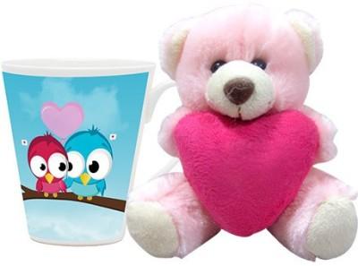 HomeSoGood Will You Be My Valentine Coffee Mug With Teddy Valentine Gift Set Gift Set