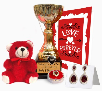 Tiedribbons TIED RIBBONS Valentine's day special edition lady accessory and trophy combo Gift Set