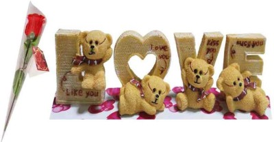 Toygully Love Teddy With Rose Gift Set