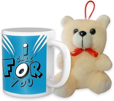 Tiedribbons I Care For You Coffee Mug Teddy Combo Gift Set